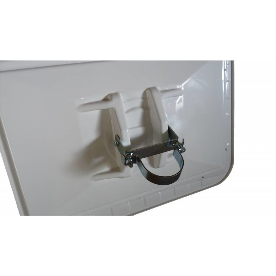 Miroir de circulation 'TRAFIC DELUXE' (Rond) 800 mm - rouge/blanc-3