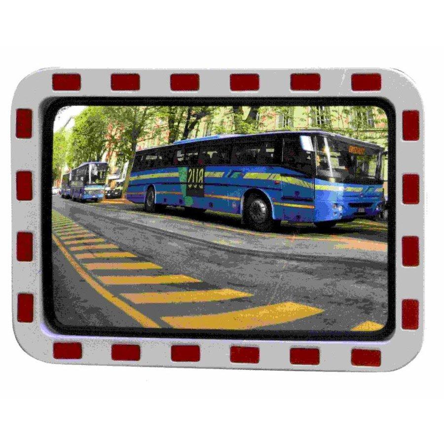 Miroir de circulation 'TRAFFIC DELUXE' 800 x 1000 mm - rouge/blanc-4