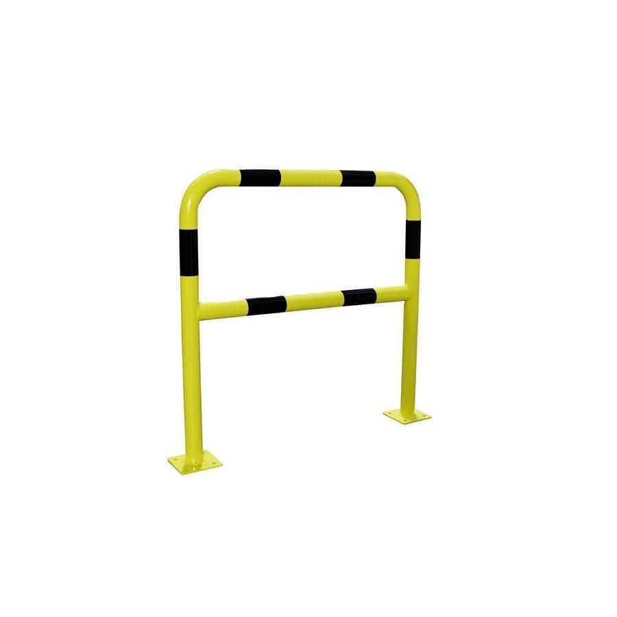 Barrière de protection en acier avec traverse - Ø 60 mm-1