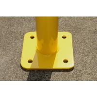 thumb-Barrière de protection en acier avec traverse - Ø 60 mm-6