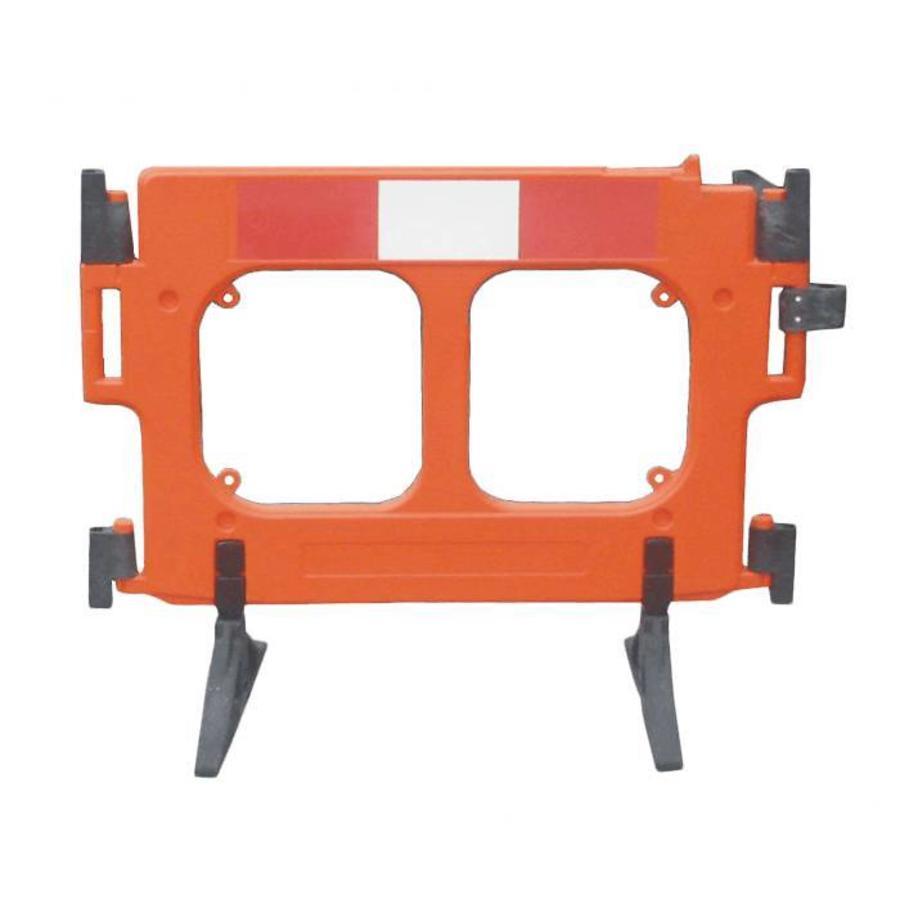 Werfhek 'Clearpath' in oranje polyethyleen-1