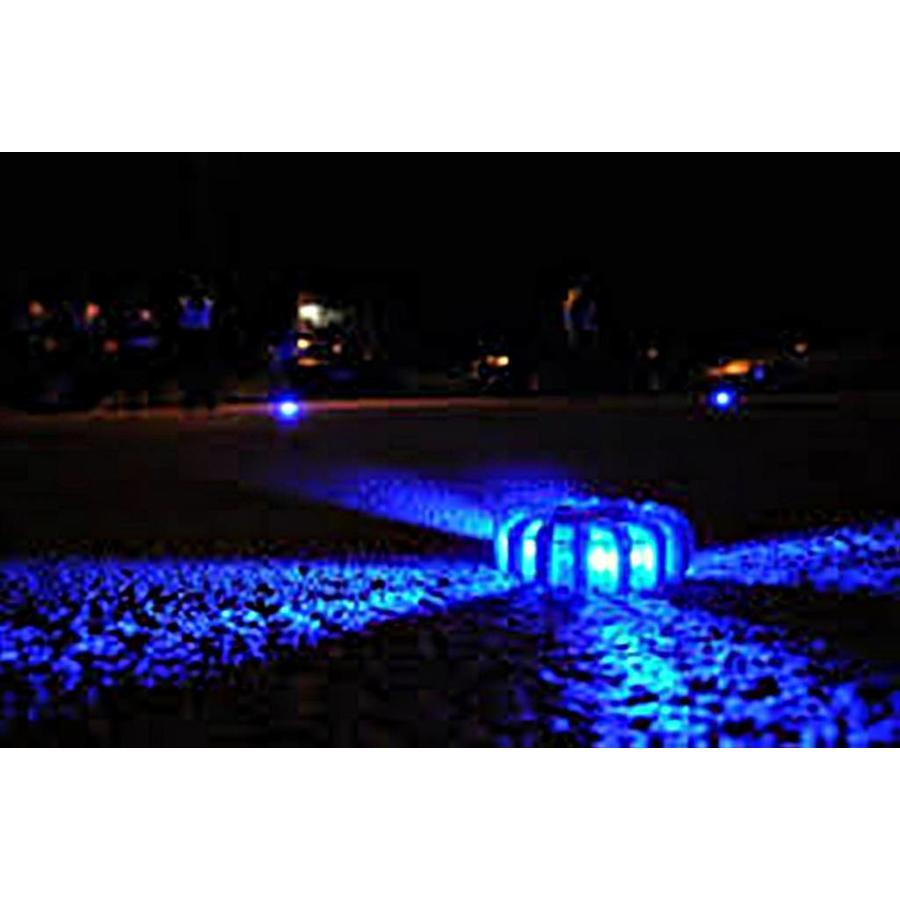 Blauwe waarschuwingslamp  - magnetisch en oplaadbaar-2