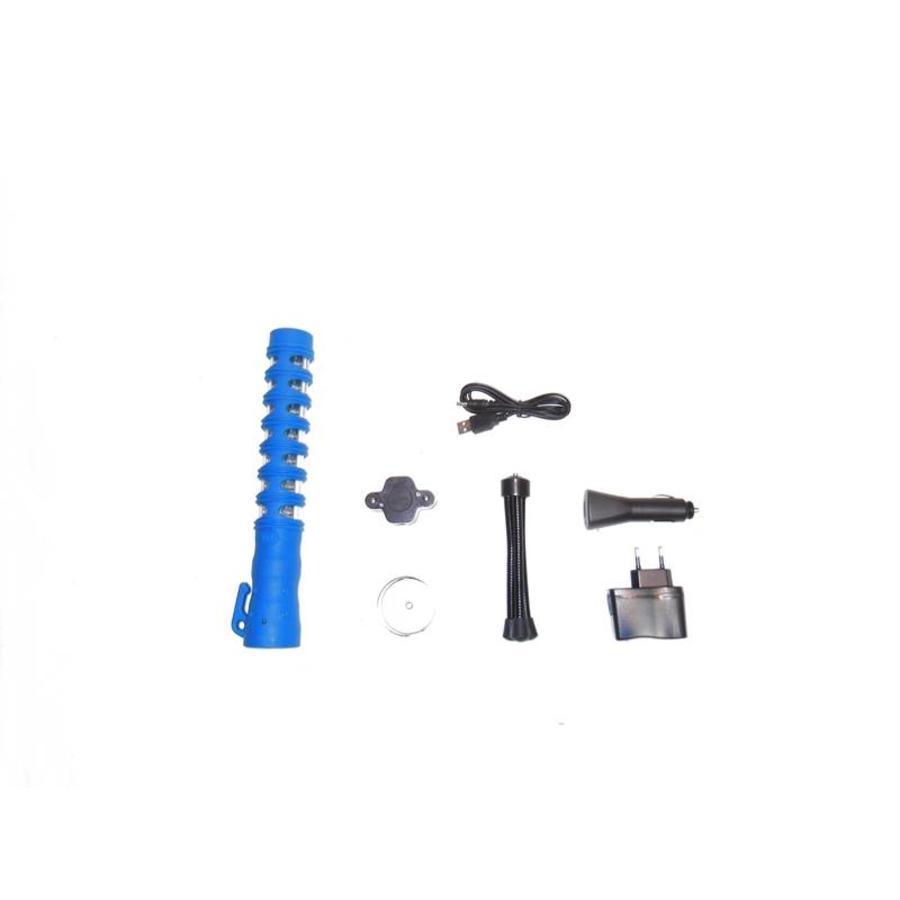 Baton de police lumineux - bleu - rechargeable-3