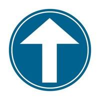 Panneau B21b: Obligation d'aller tout droit
