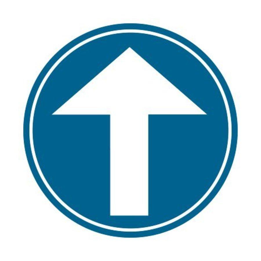 Panneau B21b: Obligation d'aller tout droit-1