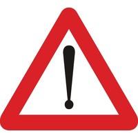Bord A51: Gevaar dat niet door een speciaal symbool wordt bepaald. Een onderbord duidt de aard van het gevaar aan.
