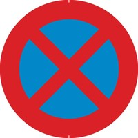 Bord E3: Stilstaan en parkeren verboden