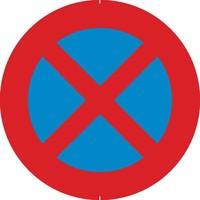Panneau B6d: Arrêt et stationnement interdit