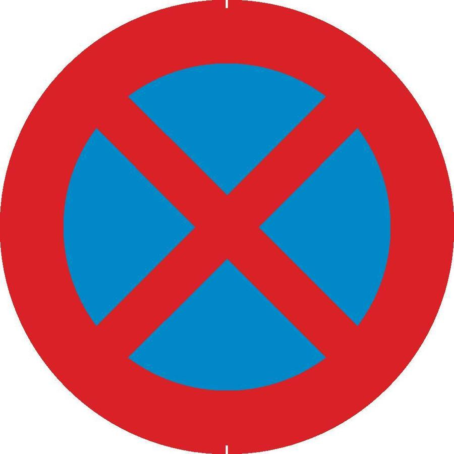Bord E3: Stilstaan en parkeren verboden-1