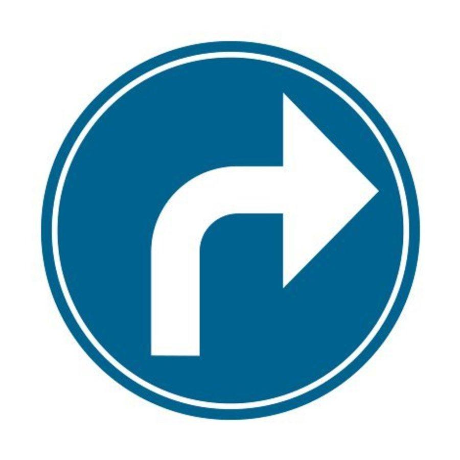 Panneau B21c1: Obligation de tourner à droite-1