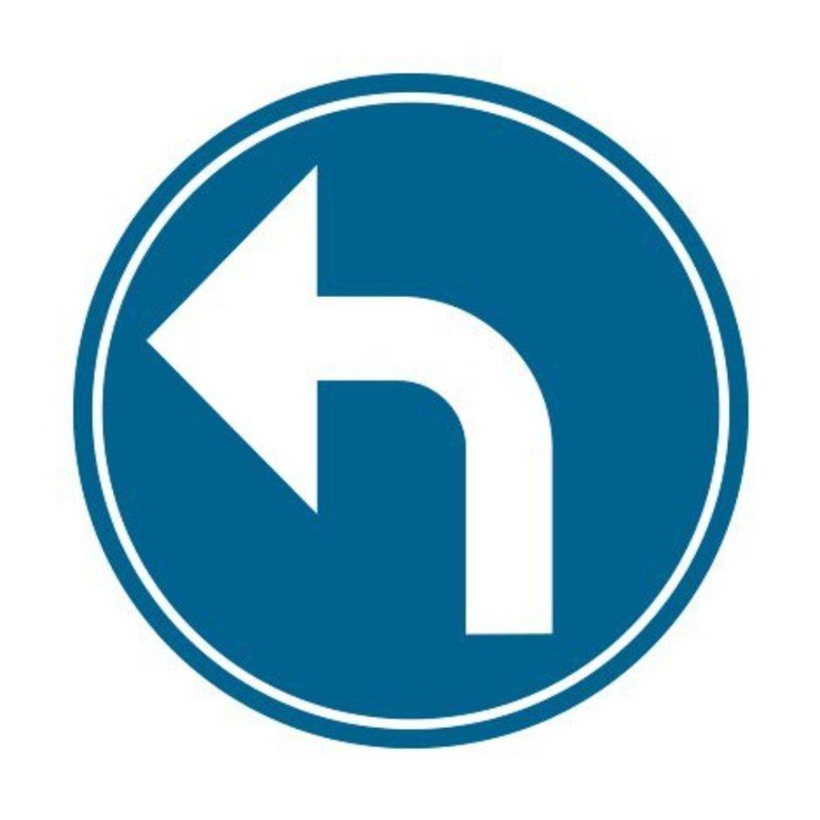 Panneau B21c2: Obligation de tourner à gauche-1