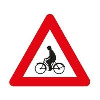 Bord A25: Oversteekplaats voor fietsers en bestuurders van tweewielige bromfietsen