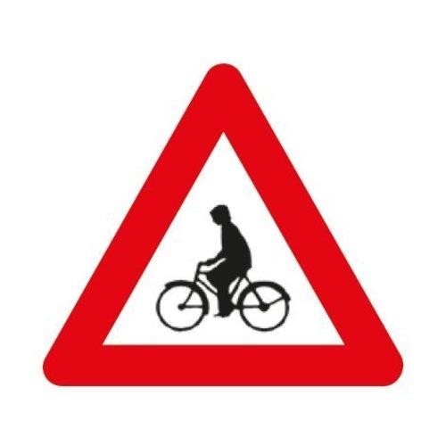 Panneau A25: Débouché de cyclistes venant de droite ou de gauche