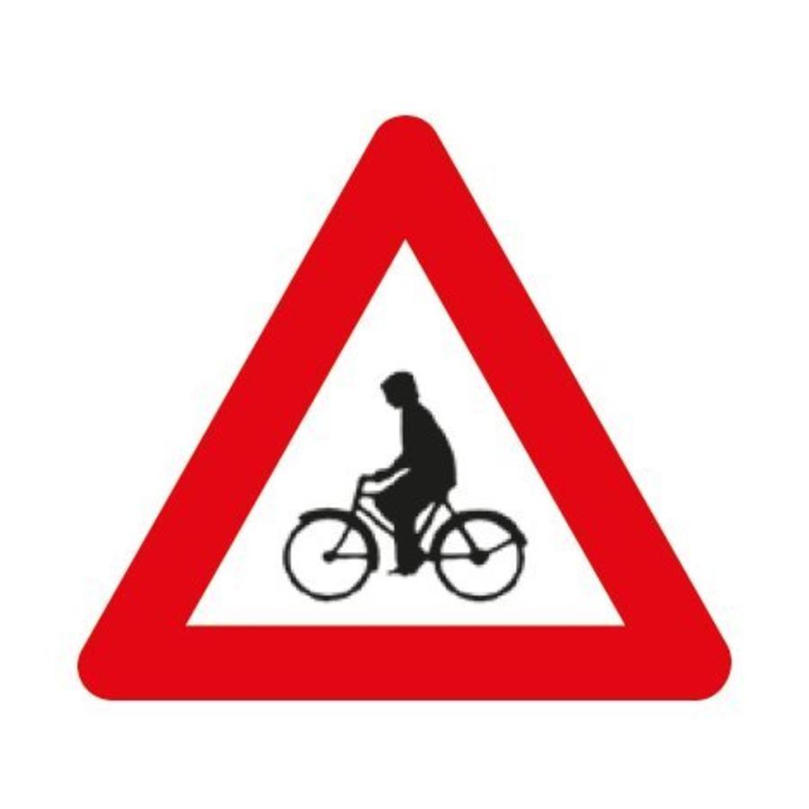 Panneau A25: Débouché de cyclistes venant de droite ou de gauche-1