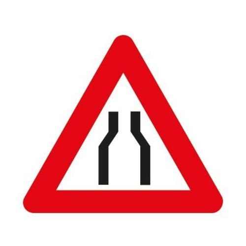 Panneau A7a: Chaussée rétrécie