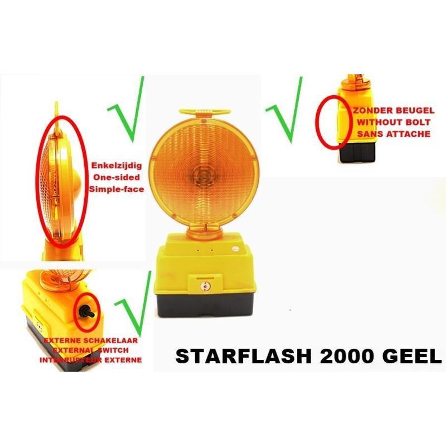 Lampe de chantier STARFLASH 2000 - simple face -  jaune-1