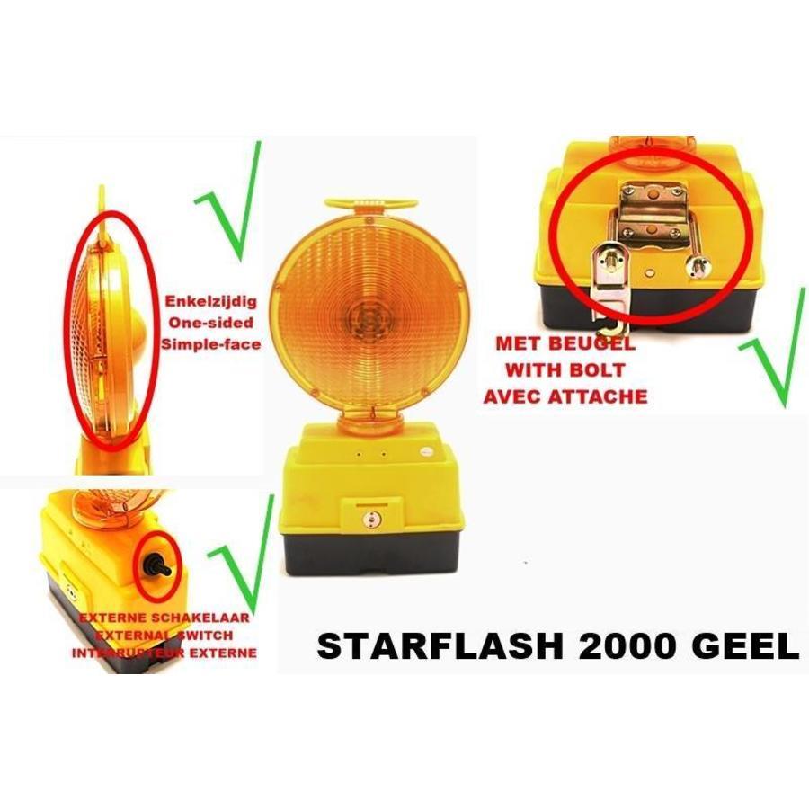 Lampe de chantier STARFLASH 2000 - simple face -  jaune-4