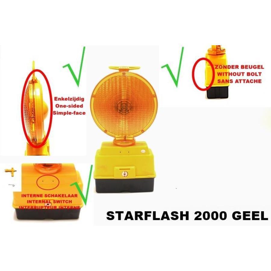 Lampe de chantier STARFLASH 2000 - simple face -  jaune-5