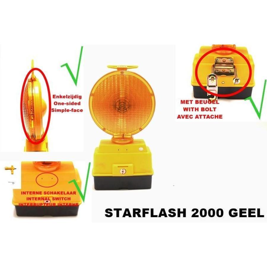 Lampe de chantier STARFLASH 2000 - simple face -  jaune-6