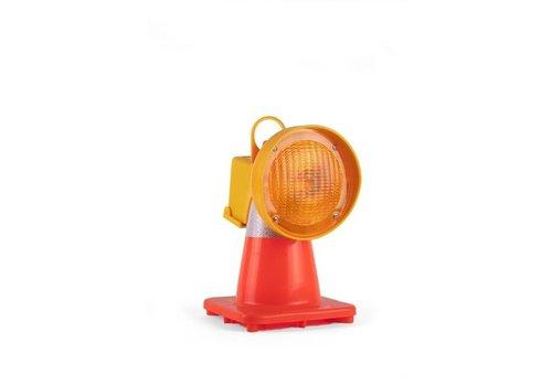 Lampe de chantier pour cônes de signalisation