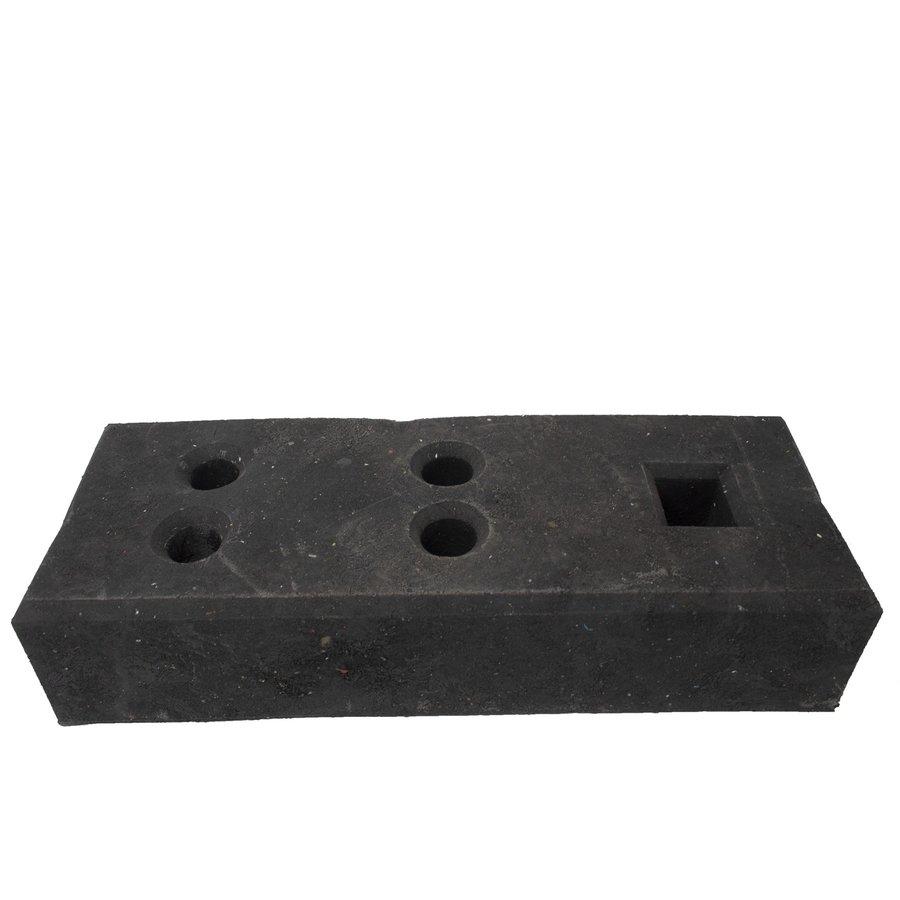 Socle pour clôtures de chantier - 25 kg - PVC recyclé-1