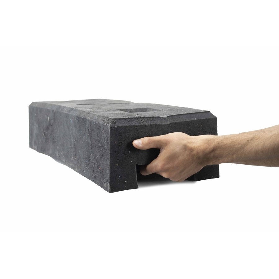 Socle pour clôtures de chantier - 25 kg - PVC recyclé-3