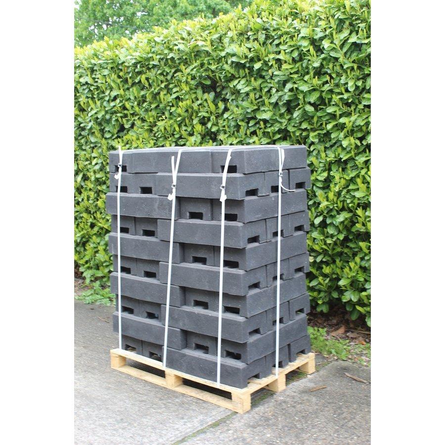 Socle pour clôtures de chantier - 25 kg - PVC recyclé-5