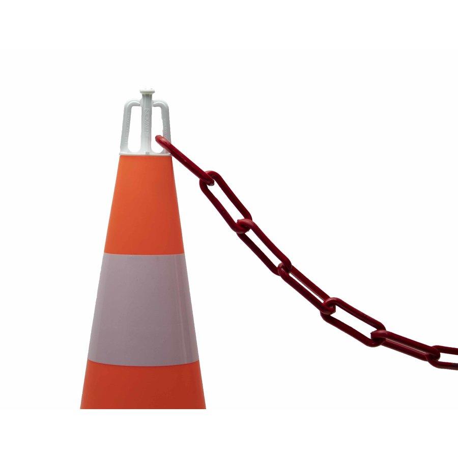 Ensemble de 5 cônes (50 cm) et 7.5 m chaine de signalisation (Ø 8mm)-4