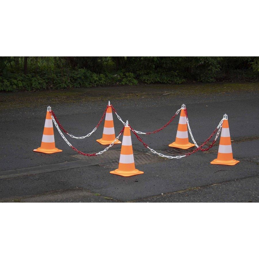 Ensemble de 5 cônes (50 cm) et 7.5 m chaine de signalisation (Ø 8mm)-5