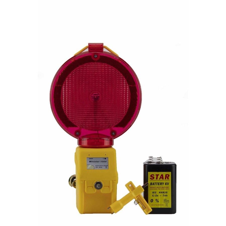Werflamp MINISTAR 1000 - Rood-2