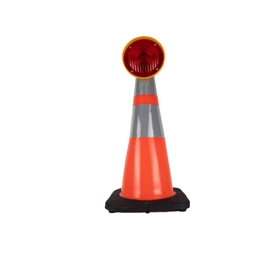 Lampe de chantier Conestar pour cônes de signalisation - Rouge (excl. pile)-4