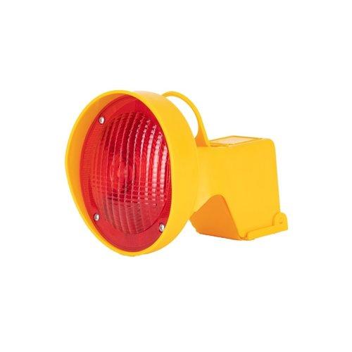 Lampe de chantier pour cônes de signalisation - Rouge