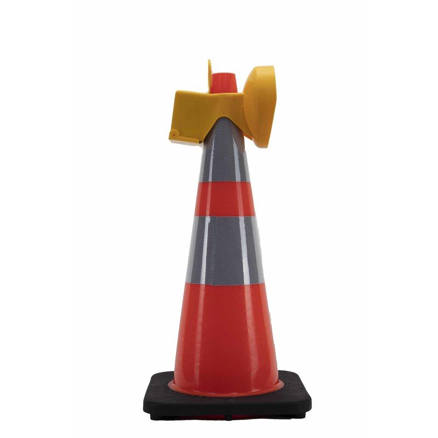 Lampe de chantier Conestar pour cônes de signalisation - Rouge (excl. pile)-3