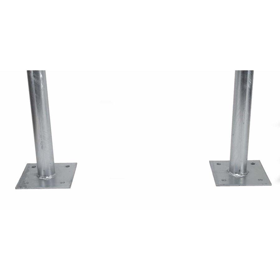 Fietsbeugel 600 x 800 mm Ø 50 mm met dwarsbuis op voetplaten-4