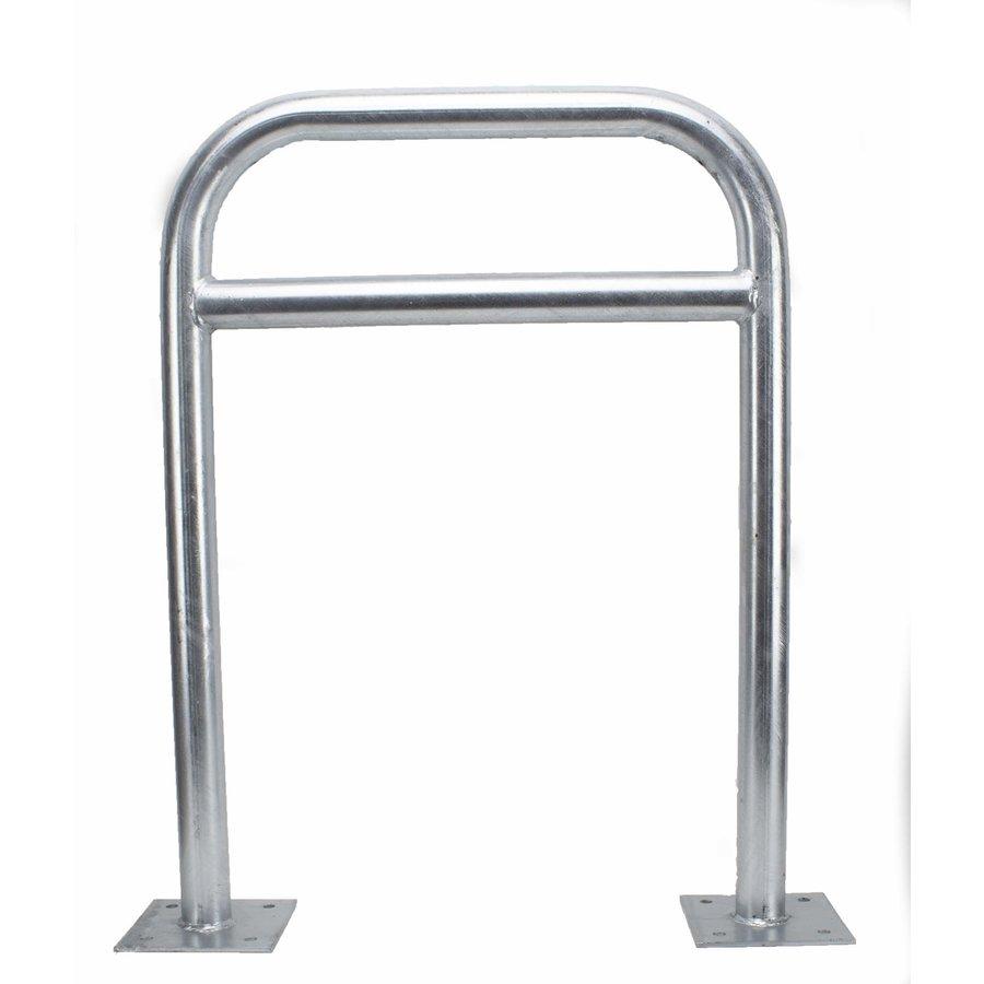 Arceau vélo 600 x 800 mm Ø 50 mm avec  barre transversale sur platines-1