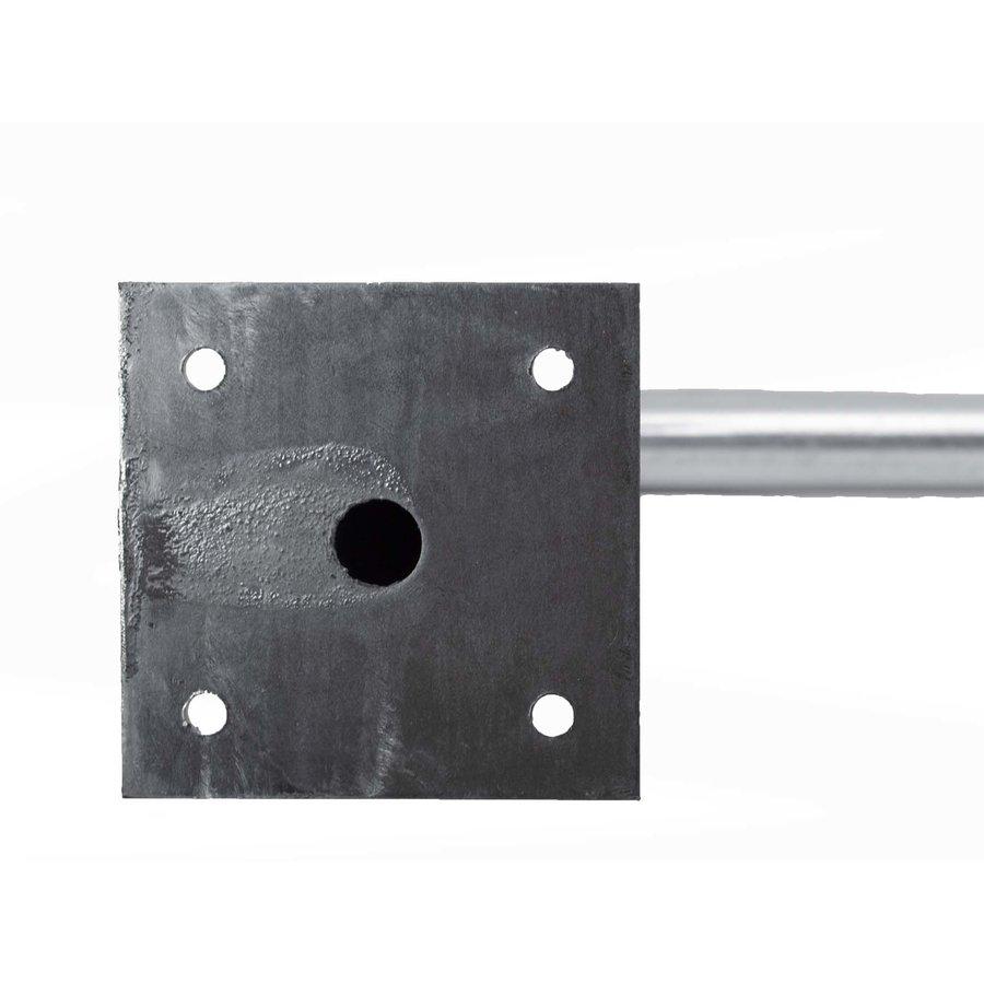 Fietsbeugel 600 x 800 mm Ø 50 mm met dwarsbuis op voetplaten-5