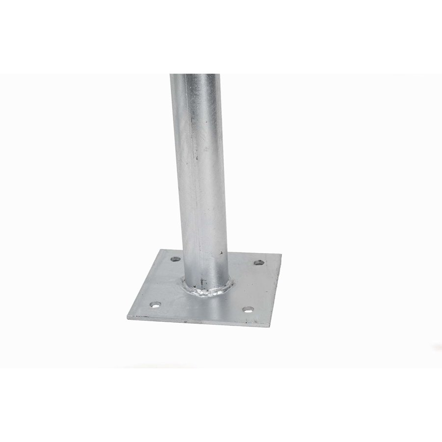Fietsbeugel 600 x 800 mm Ø 50 mm met dwarsbuis op voetplaten-2