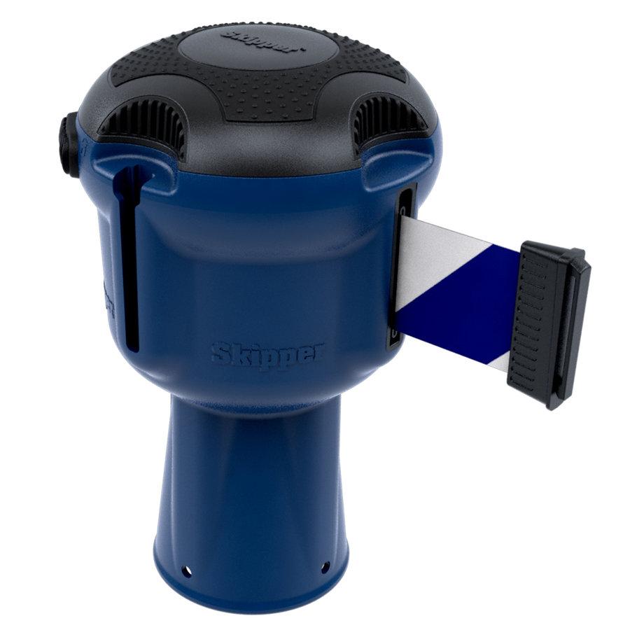 Blauwe SKIPPER  unit met 9 meter blauw/wit afzetlint-2