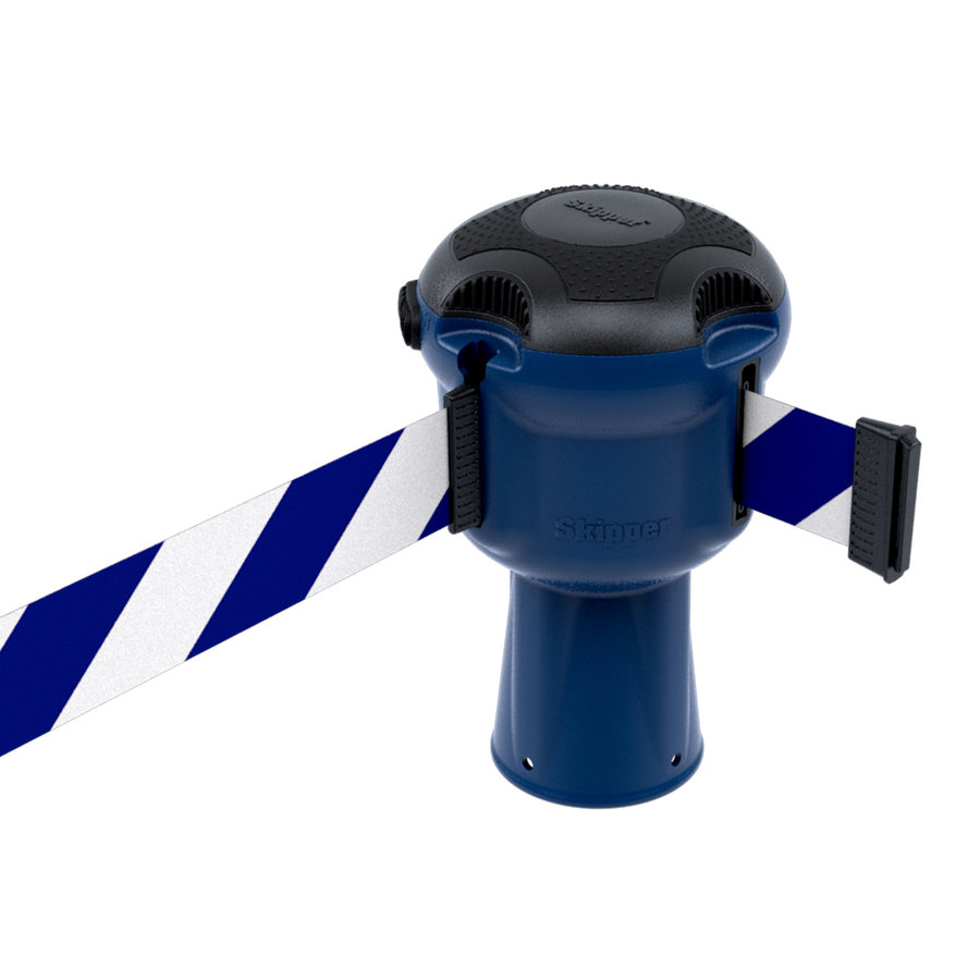 Blauwe SKIPPER  unit met 9 meter blauw/wit afzetlint-1
