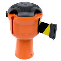 thumb-Enrouleur de sangle  SKIPPER avec 9 mètres de ruban de signalisation jaune/noir - CAUTION-1