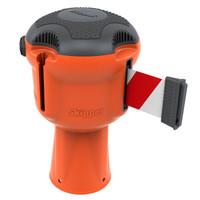thumb-SKIPPER afzetlinthouder met 9 meter rood/wit lint-1