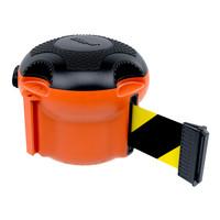 thumb-Enrouleur à sangle SKIPPER XS avec 9 mètres de ruban de signalisation noir/jaune-1