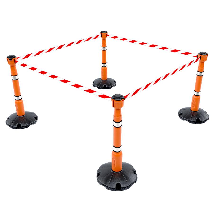 Corps du poteau de ballisage SKIPPER orange - pièce d'échange-3