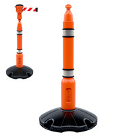 thumb-SKIPPER afzetpaal met voetplaat - oranje-2