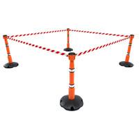 thumb-SKIPPER afzetpaal met voetplaat - oranje-4