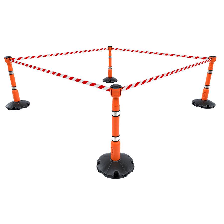 SKIPPER afzetpaal met voetplaat - oranje-4
