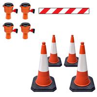 thumb-Skipper ensemble cônes 81 m2 budget avec cônes PU et enrouleurs à sangle Skipper-1