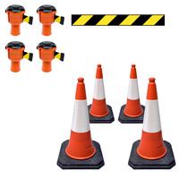 thumb-Skipper ensemble cônes 81 m2 budget avec cônes PU et enrouleurs à sangle Skipper-2