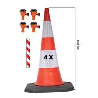 thumb-Skipper ensemble cônes 81 m2 BIG avec Bigfoot cônes de 100 cm et enrouleurs à sangle Skipper-1