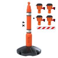thumb-Skipper ensemble poteaux 81 m2 avec poteaux de ballisage et enrouleurs à sangle Skipper-1